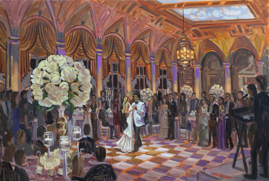 Live Wedding Painting at The Breakers, Palm Beach, FL
