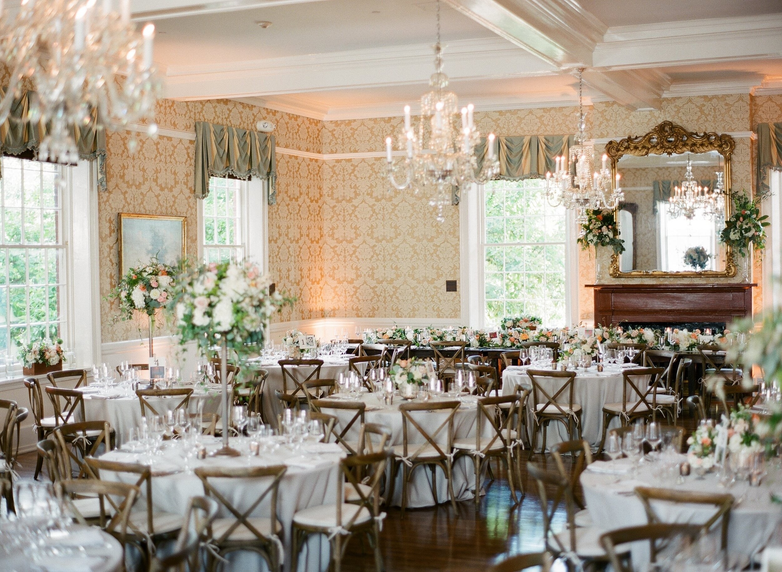 Hannah + Evan's reception was also held at Saint Mary's School in Raleigh, North Carolina.