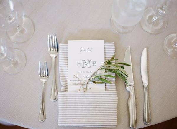 gray-and-white-striped-wedding-table-napkin