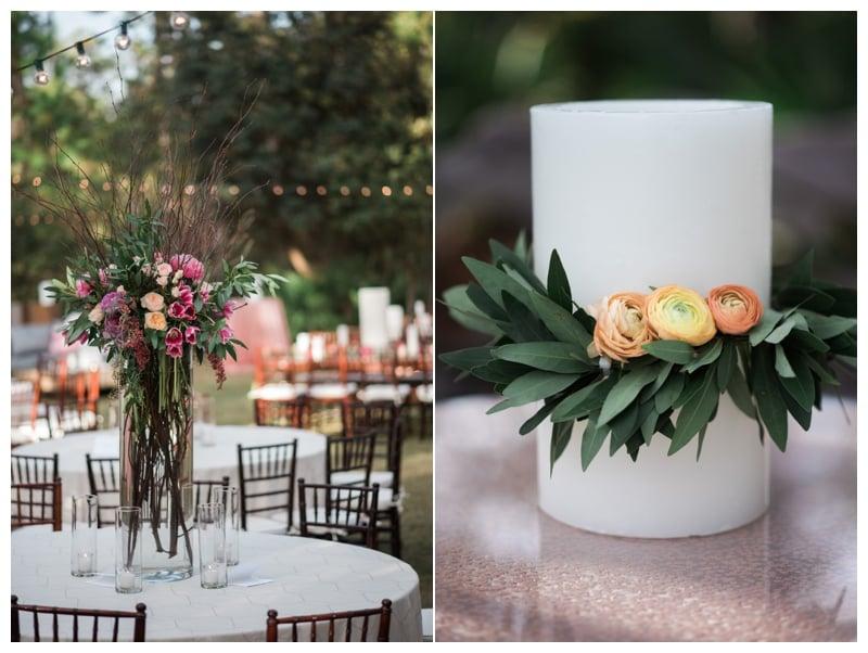 fuchsia-wedding-reception-florals