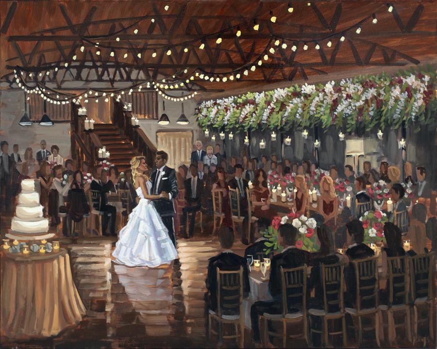 Live Wedding Painting at Summerour Studio in Atlanta, Georgia
