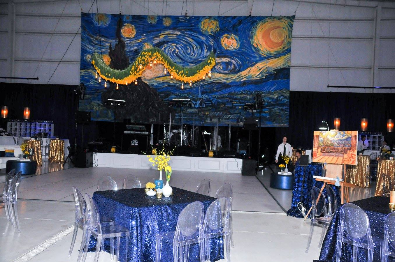 van-gogh-themed-gala-wilmington-nc-hanging-tulip-floral-instalation