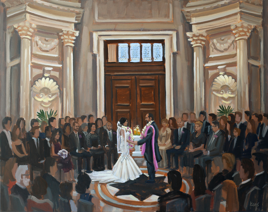 Live Wedding Painting | Carnegie Institution for Science, Washington, DC
