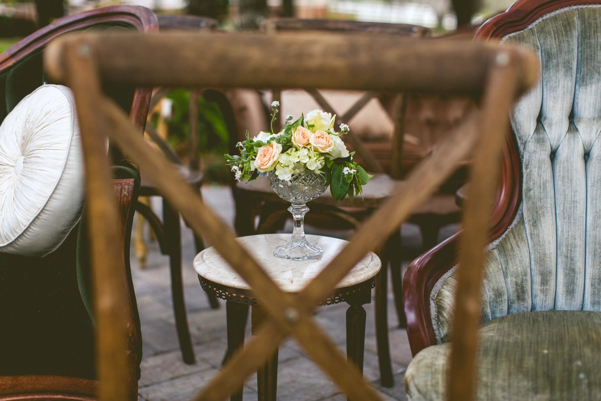 vintage-mix-and-match-wedding-ceremony-chairs