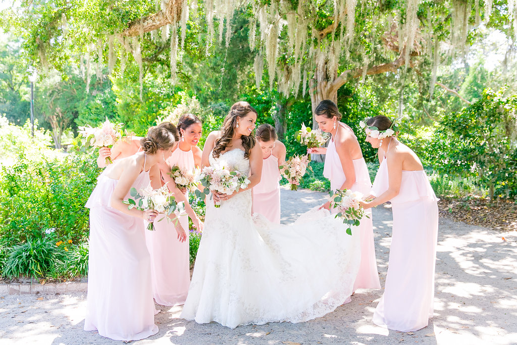 wadmalaw-island-wedding-blush-bridesmaids-dresses