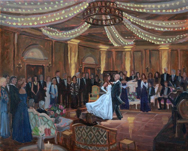Live Wedding Painting - The Salamander Resort, Middleburg, VA