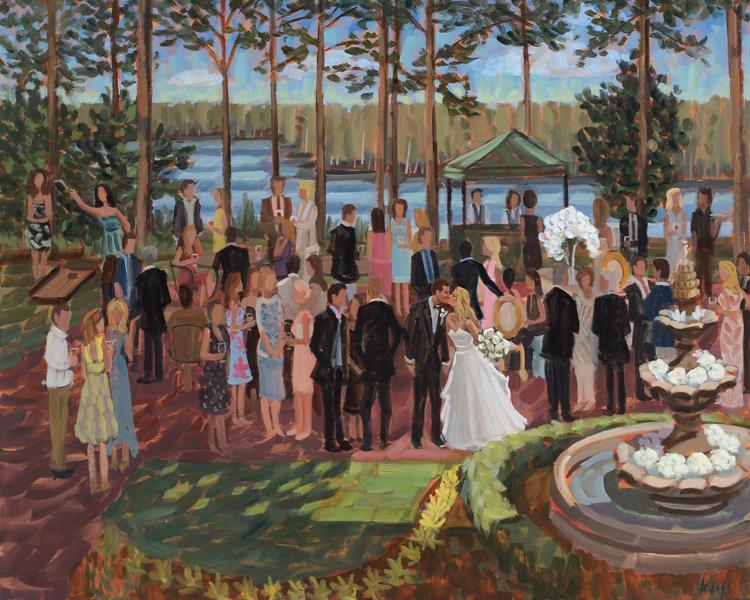 Live Wedding Painting | Country Club of NC, Pinehurst, NC