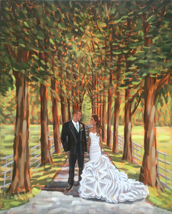 Live Wedding Painting, Private Residence, Cheshire, England