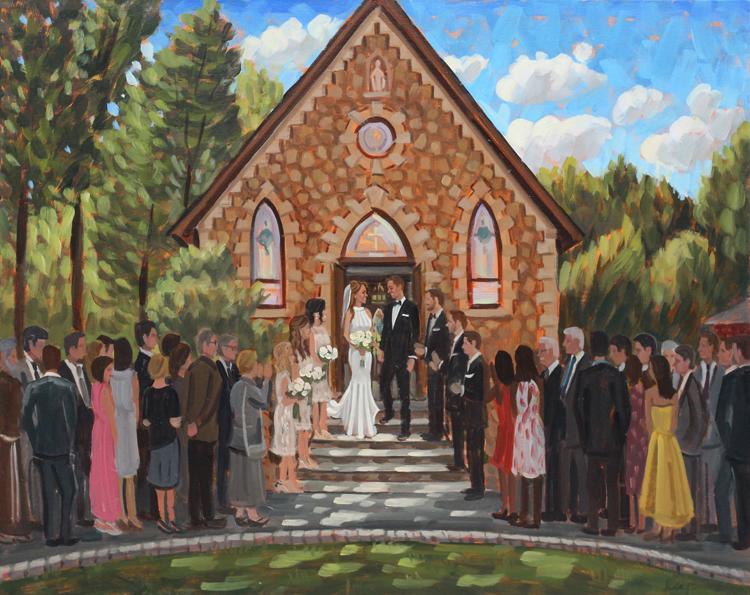 Live Wedding Painting | Warren, NJ