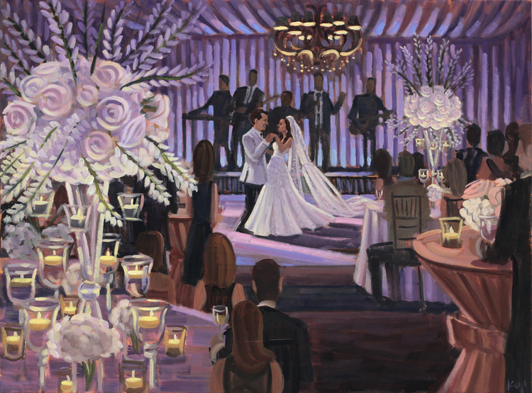 Live Wedding Painting | Jacksonville Country Club, Jacksonville, NC