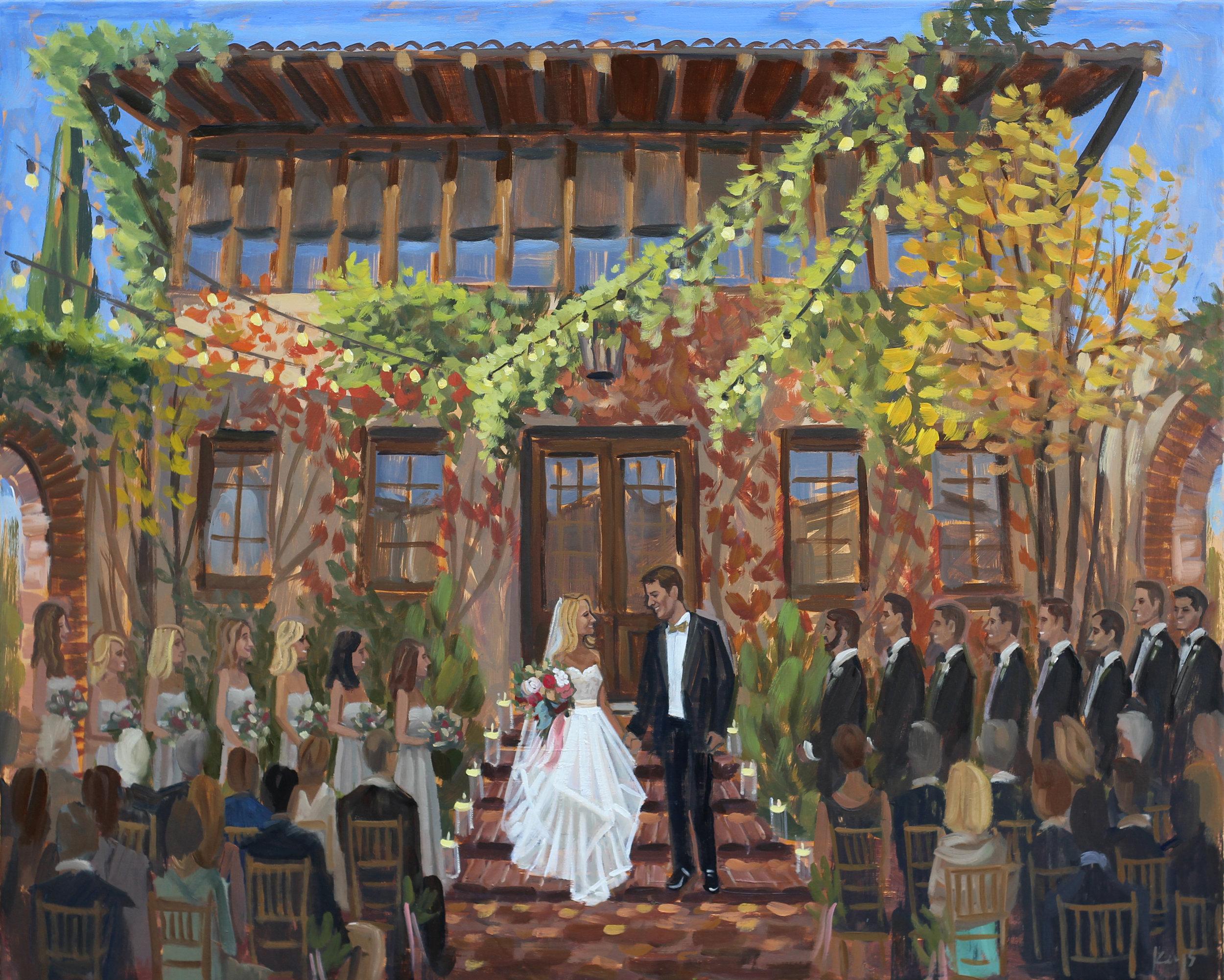 Live Wedding Painting | Summerour Studio, Atlanta, GA