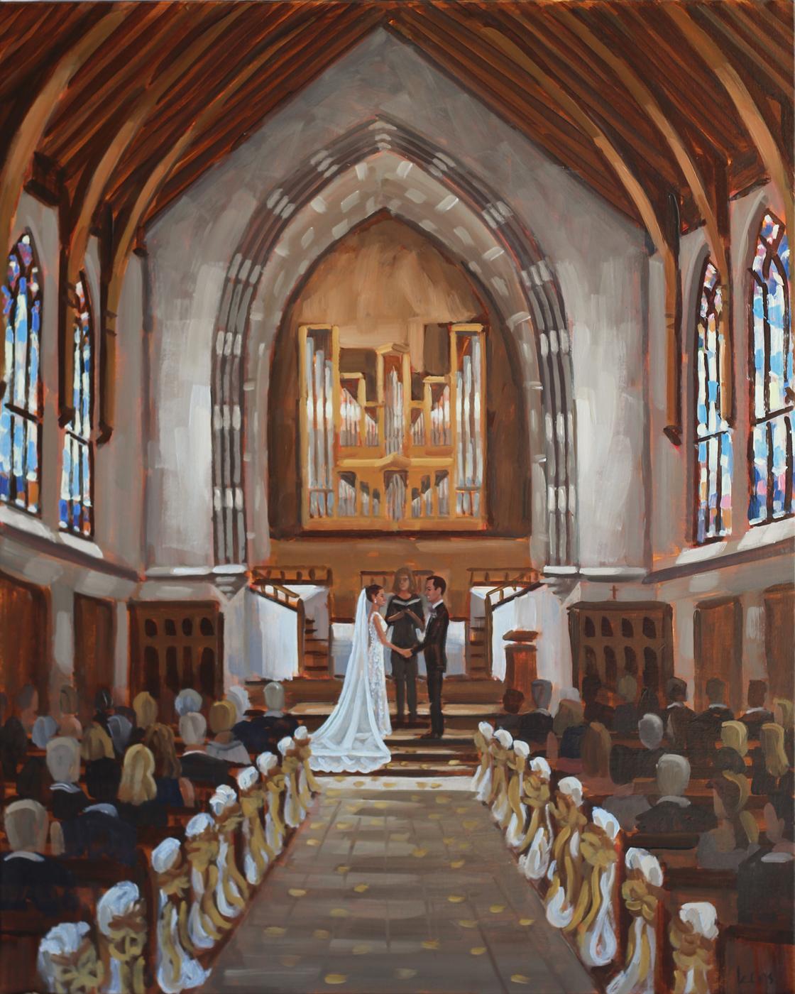 Live Wedding Painting | University of Richmond, Richmond, VA
