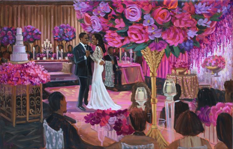 Live Wedding Painting | Magnolia Hotel, Houston, Texas