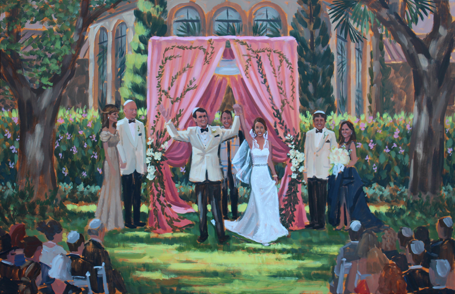 Wedding Painting | The Cloister, Sea Island, GA