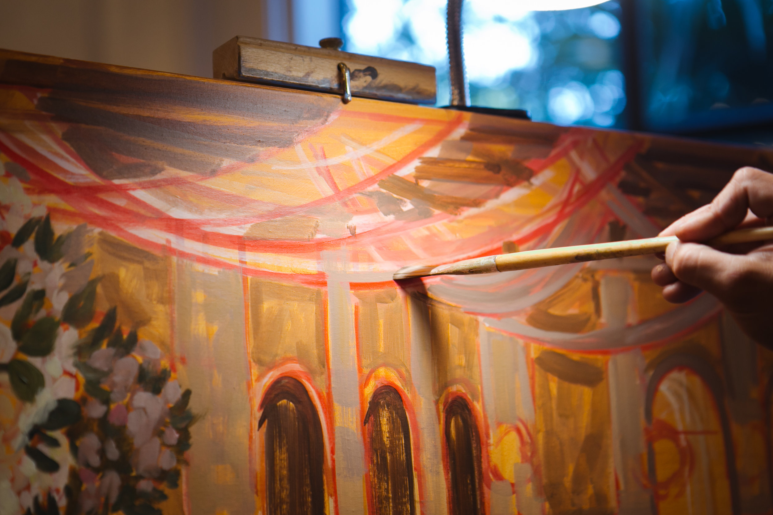 Live Wedding Painter, The Cloister, Sea Island, Georgia