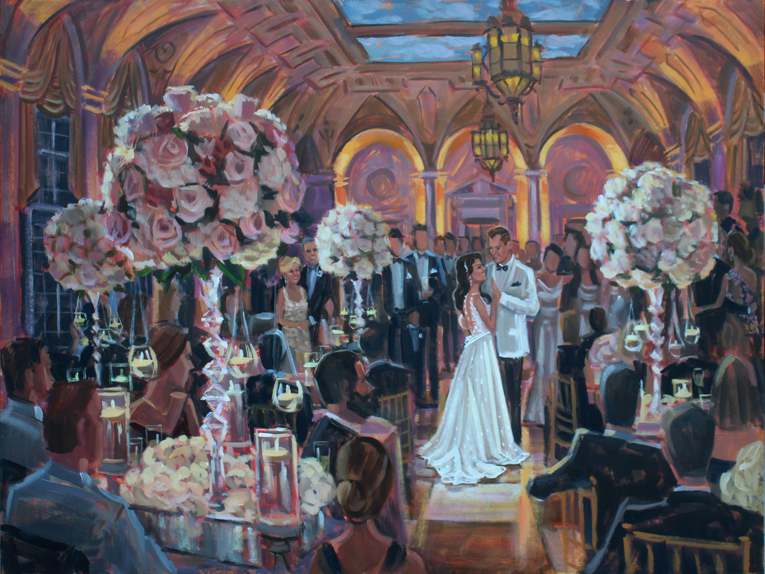 The Breakers, Palm Beach, FL | Live Wedding Painting