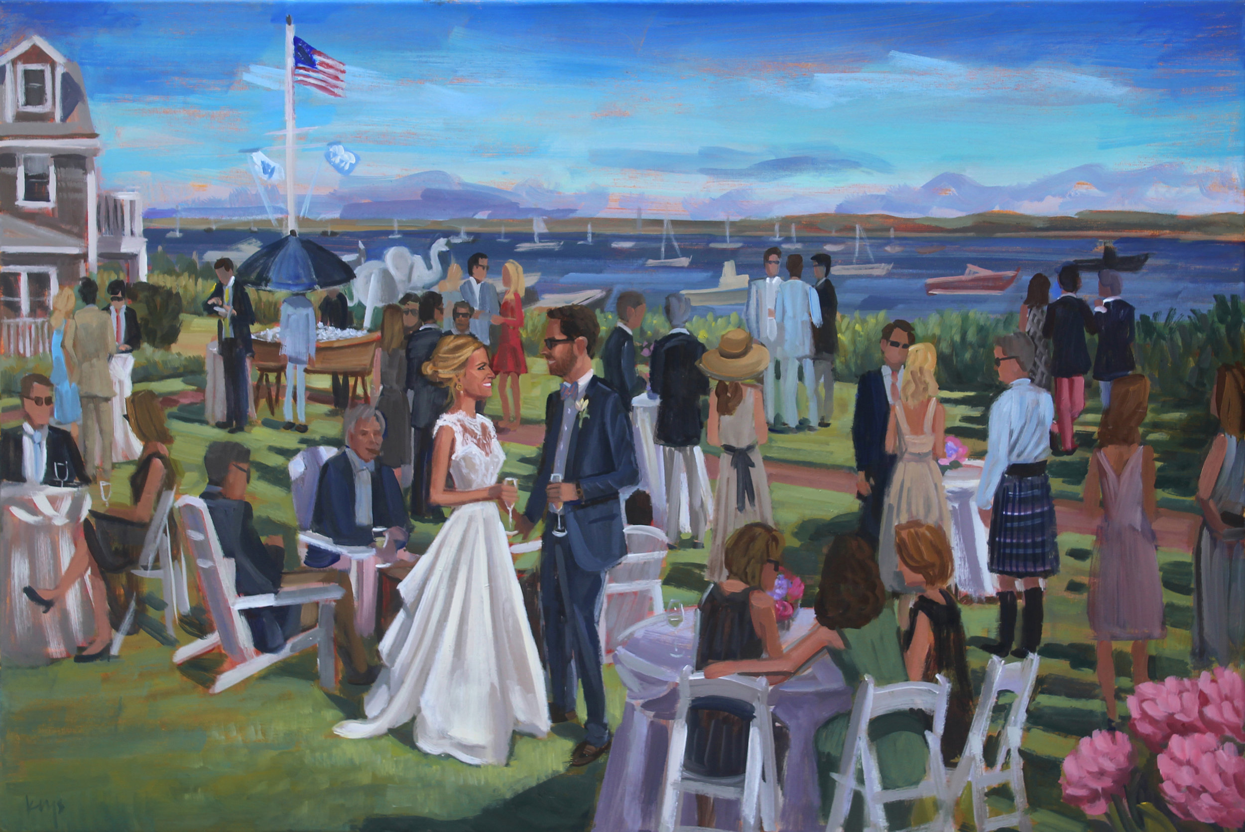 Live Wedding Painting at The White Elephant, Nantucket, MA