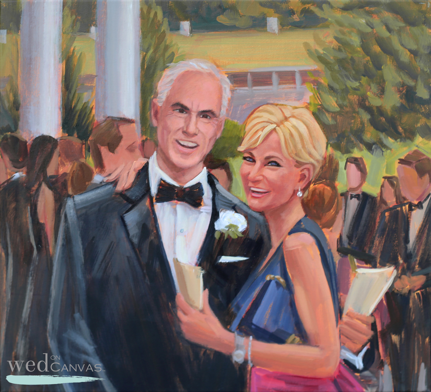 Alexandra commissioned Ben to capture a portrait of her parents that was created merging several photos together after the wedding day.  Her thought was that this would be the perfect Thank You for hosting the wedding of her dreams!