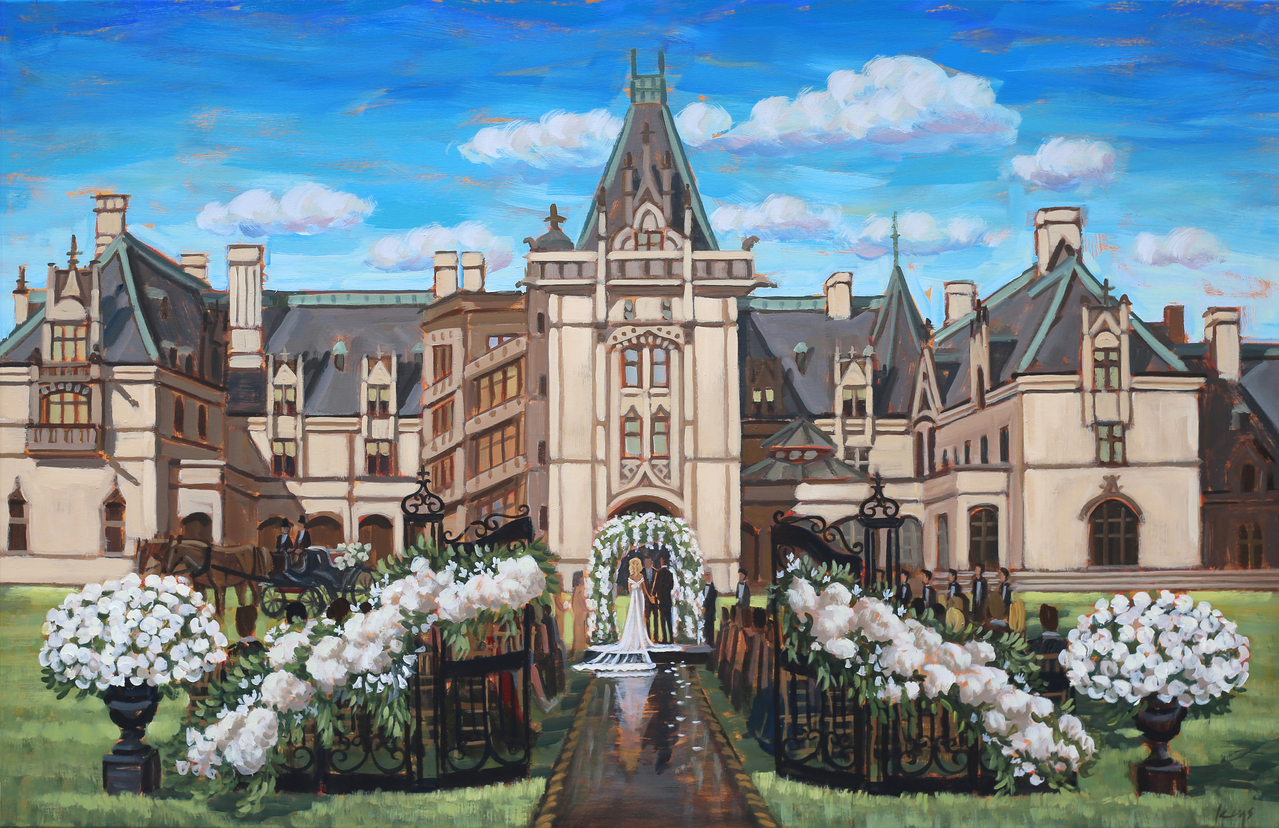 Wedding Painting | The Biltmore Estate, Asheville, NC