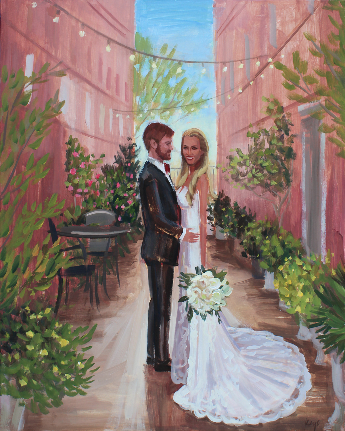 The Bleckley Inn, Anderson, SC | Live Wedding Painting