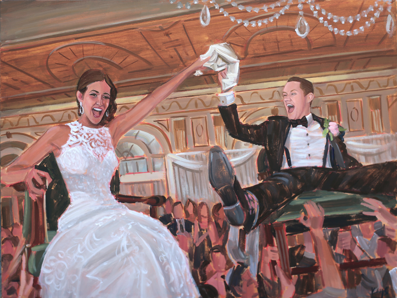 Wedding Painting | Seelbach Hotel, Louisville, KY