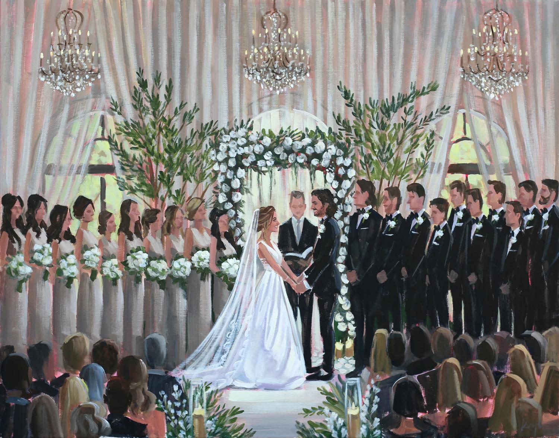 Live Wedding Painting | The Cloister, Sea Island, GA