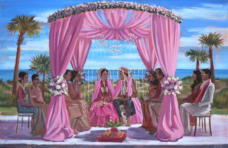 The Ritz Carlton, Amelia Island, FL | Live Wedding Painting