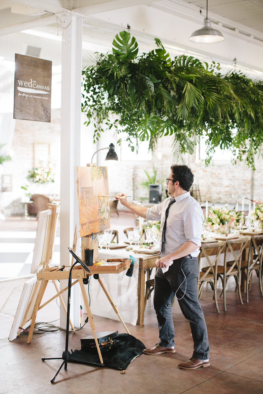 live-wedding-painter-wilmington-courtyard-and-cobblestones-ben-keys