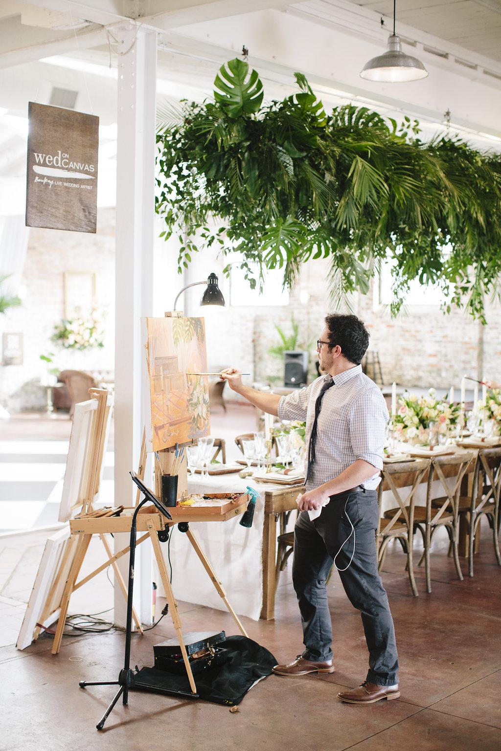 live-wedding-painter-wilmington-courtyard-and-cobblestones-ben-keys