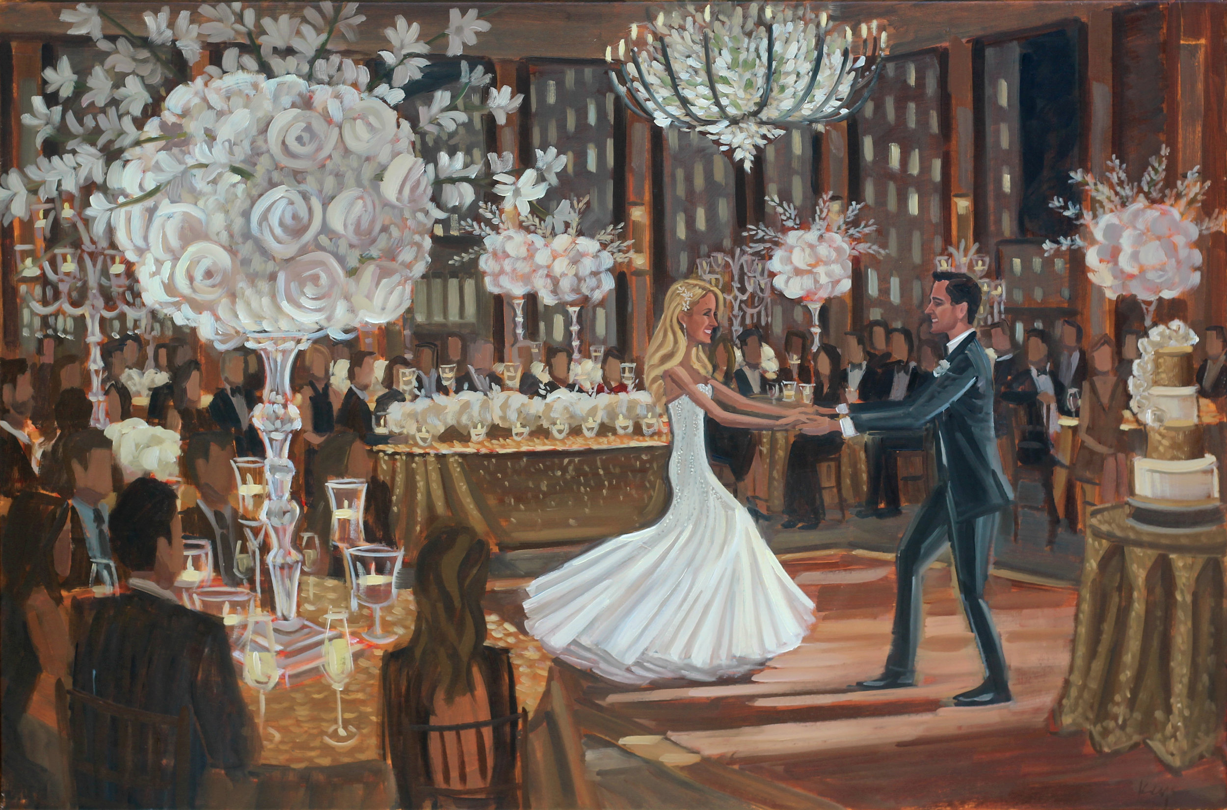 Live Wedding Painting | The Peninsula Chicago Hotel, Chicago, IL