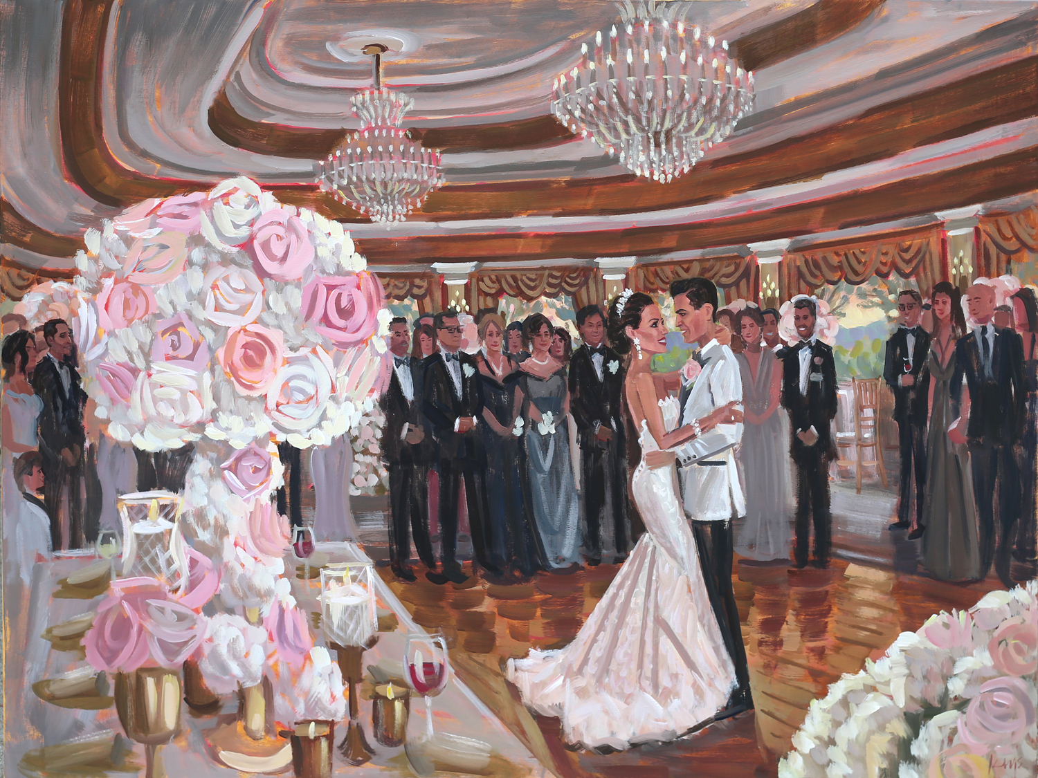 live-wedding-painter-nyc-oheka-castle