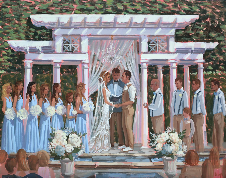 William Aiken House, Charleston, SC | Live Wedding Painting