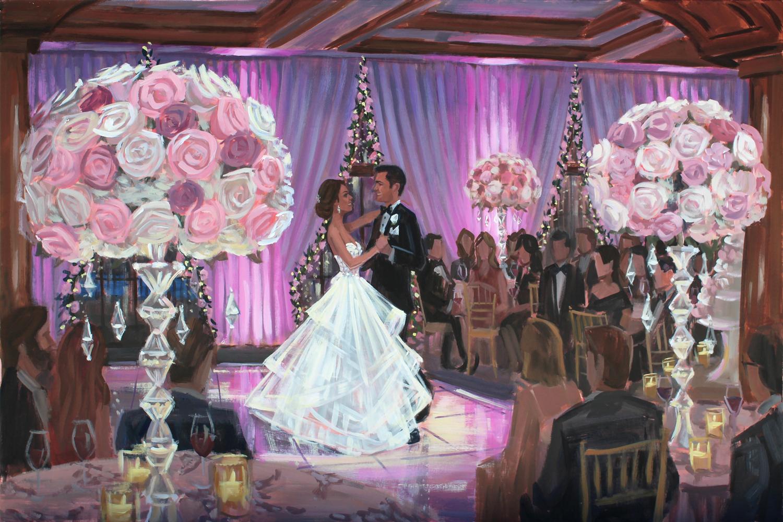 Live Wedding Painting | The Ritz Carlton Sarasota, Sarasota, FL