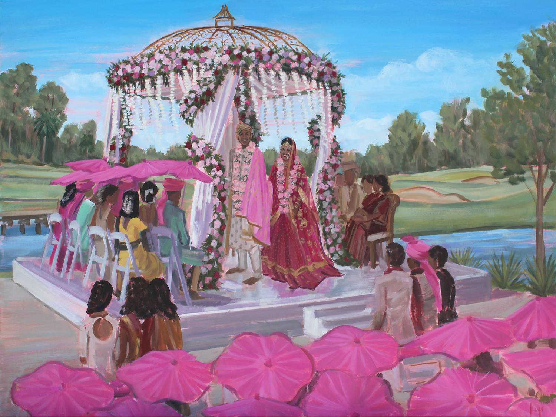 Live Wedding Painting   Waldorf Astoria, Orlando, Florida