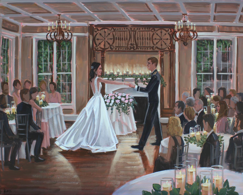 Live Wedding Painting | Payne-Corley House, Aiken, SC