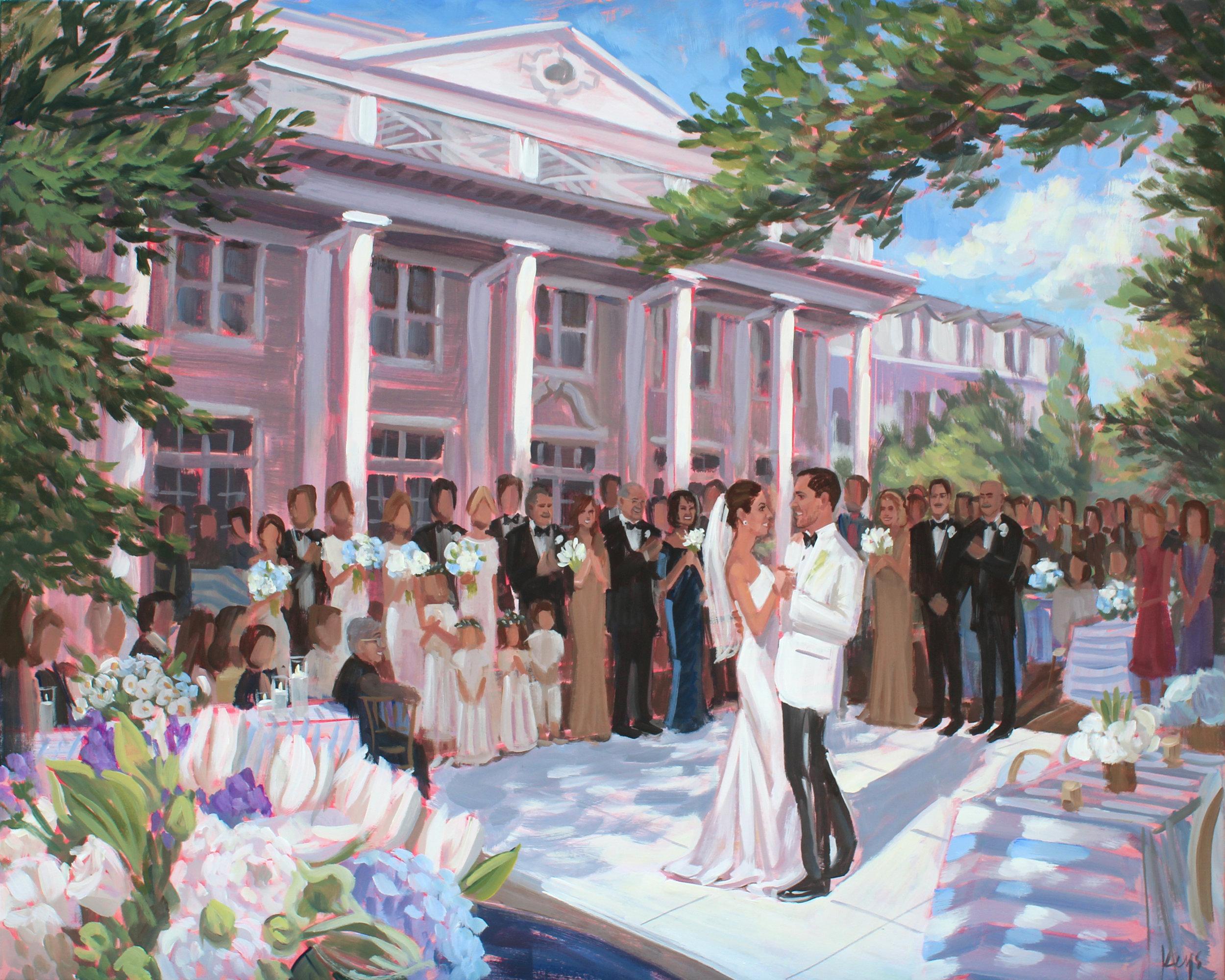 Live Wedding Painting | The Willcox, Aiken, SC