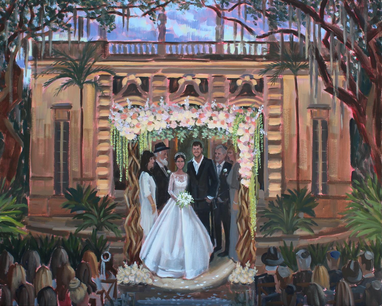 Live Wedding Painting | Vizcaya Museum & Gardens, Miami, FL