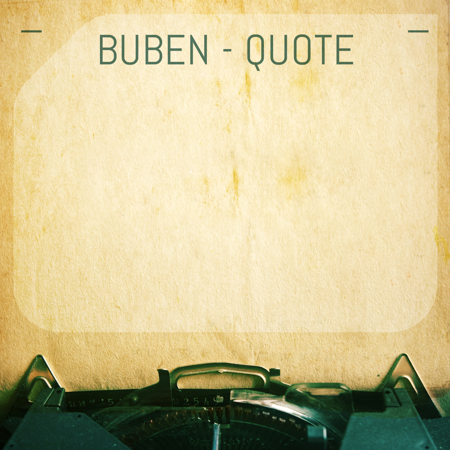 DMD017 - Buben - Quote