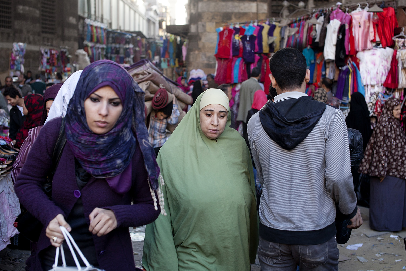 At the markets in Cairo's Muslim quarter.