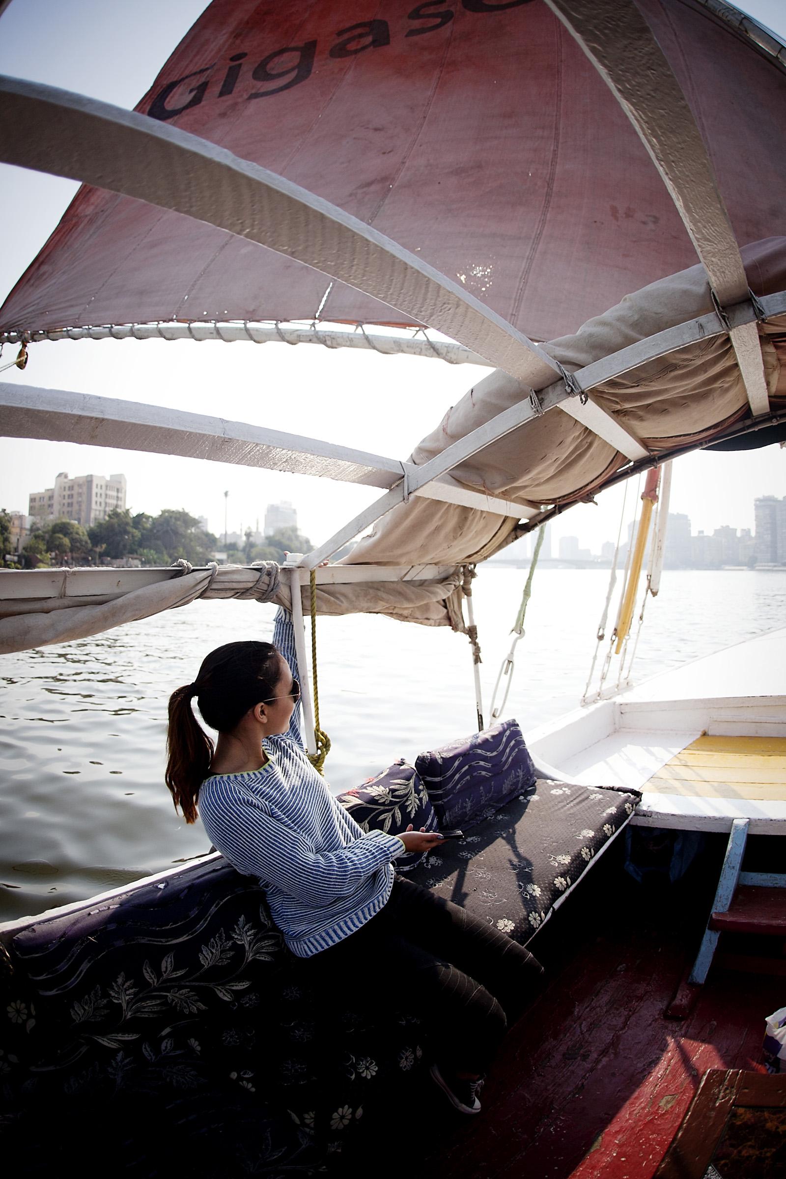 Sailing on the Nile.