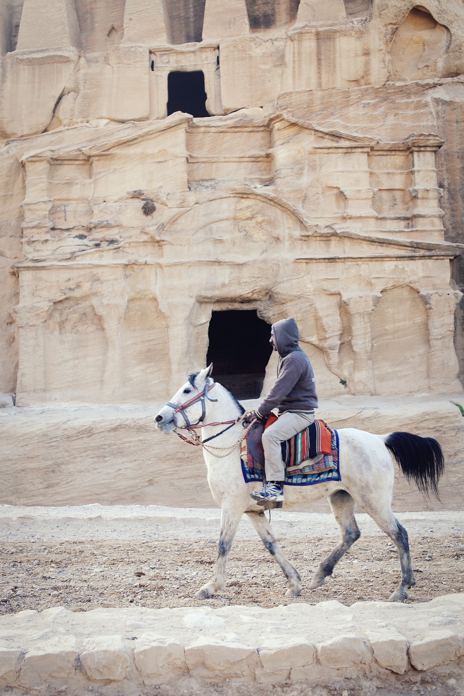 Horse riding in Petra
