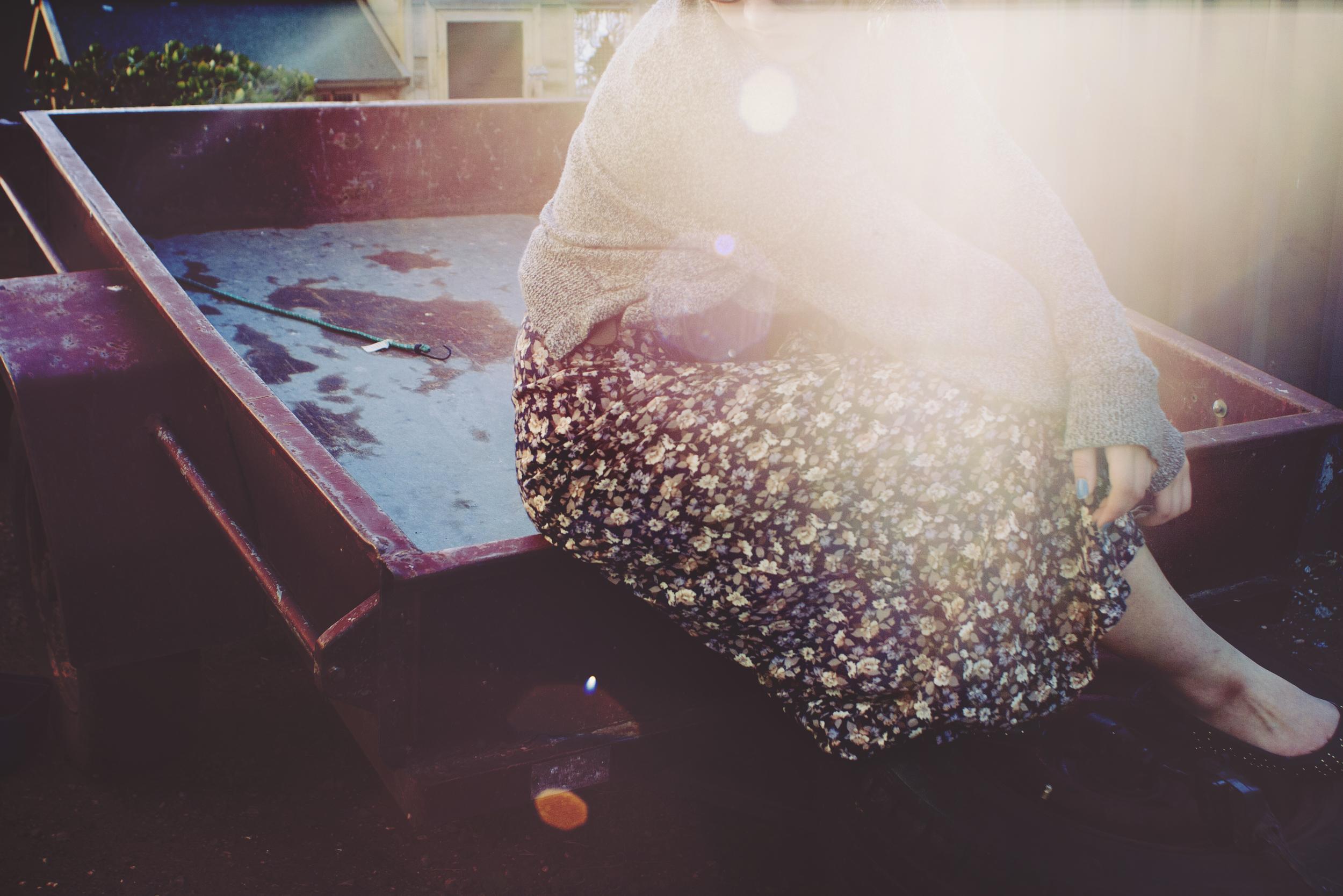 Vintage floral skirt   Dolce Vita for Target shoes