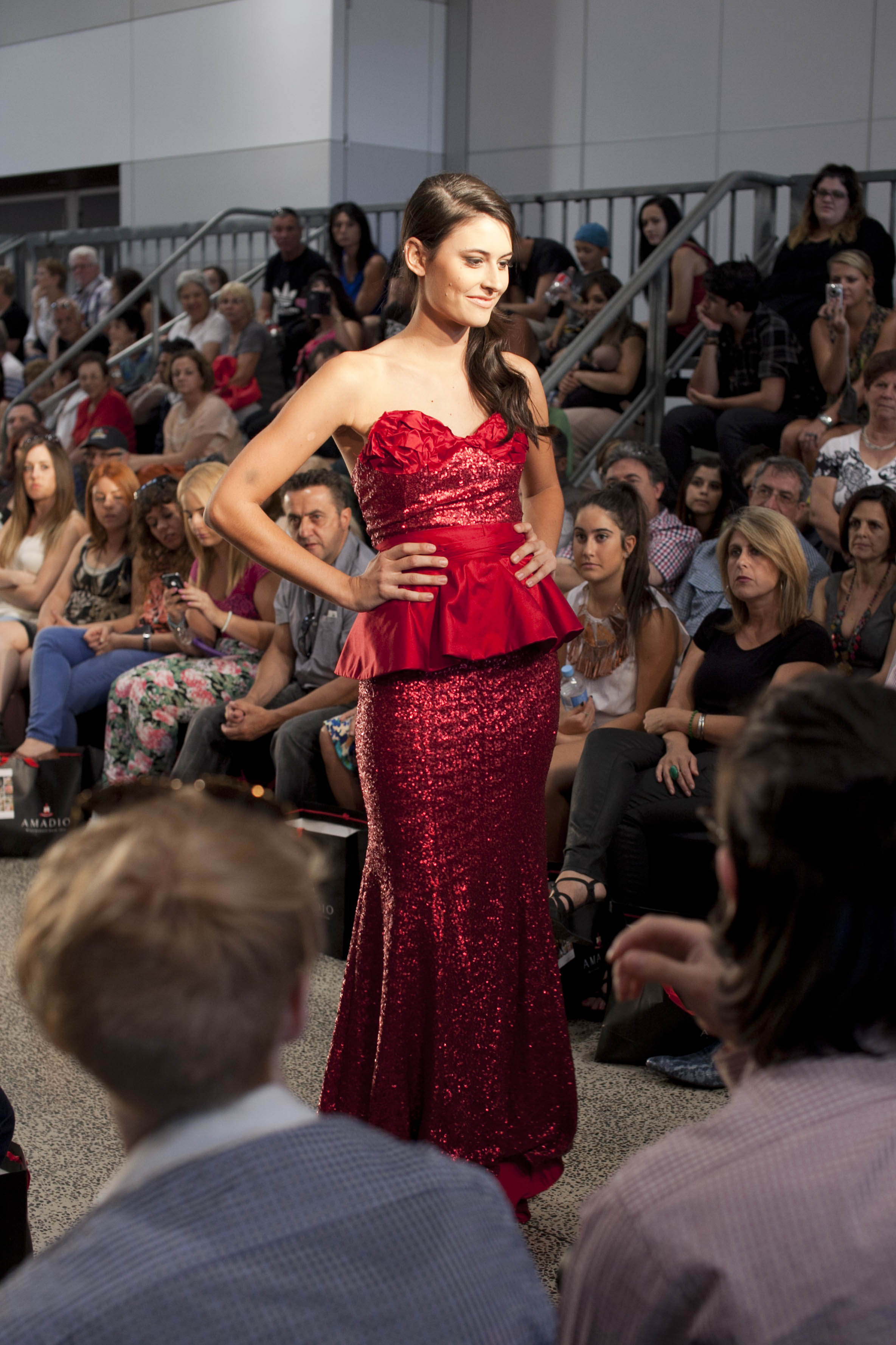 Fishtail silhouettes feature heavily in Tridente's designs, such as this one worn by Finesse face Charlotte Kleut
