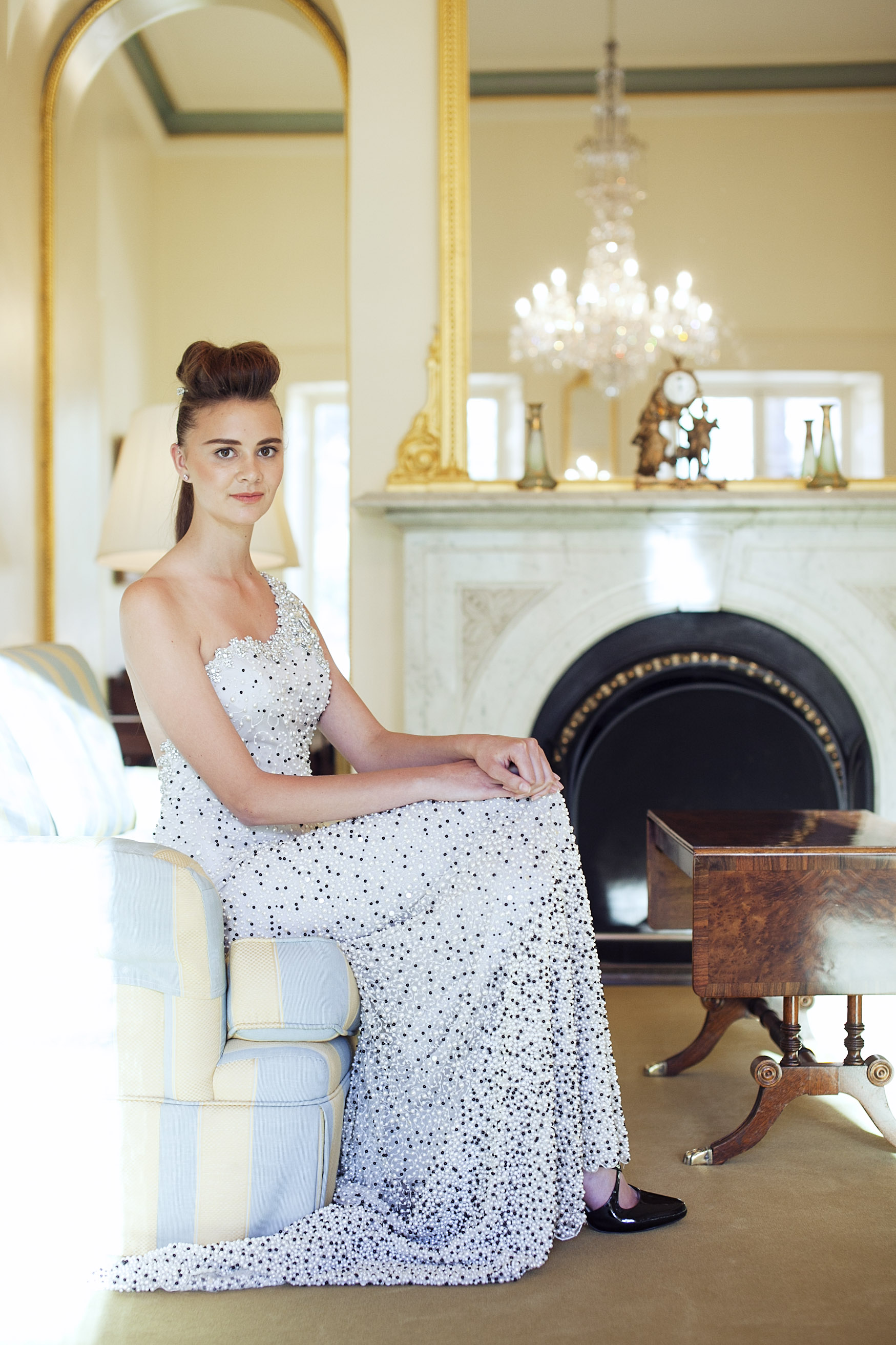 Finesse Models' Kyla Newman wears Jaimie Sortino.