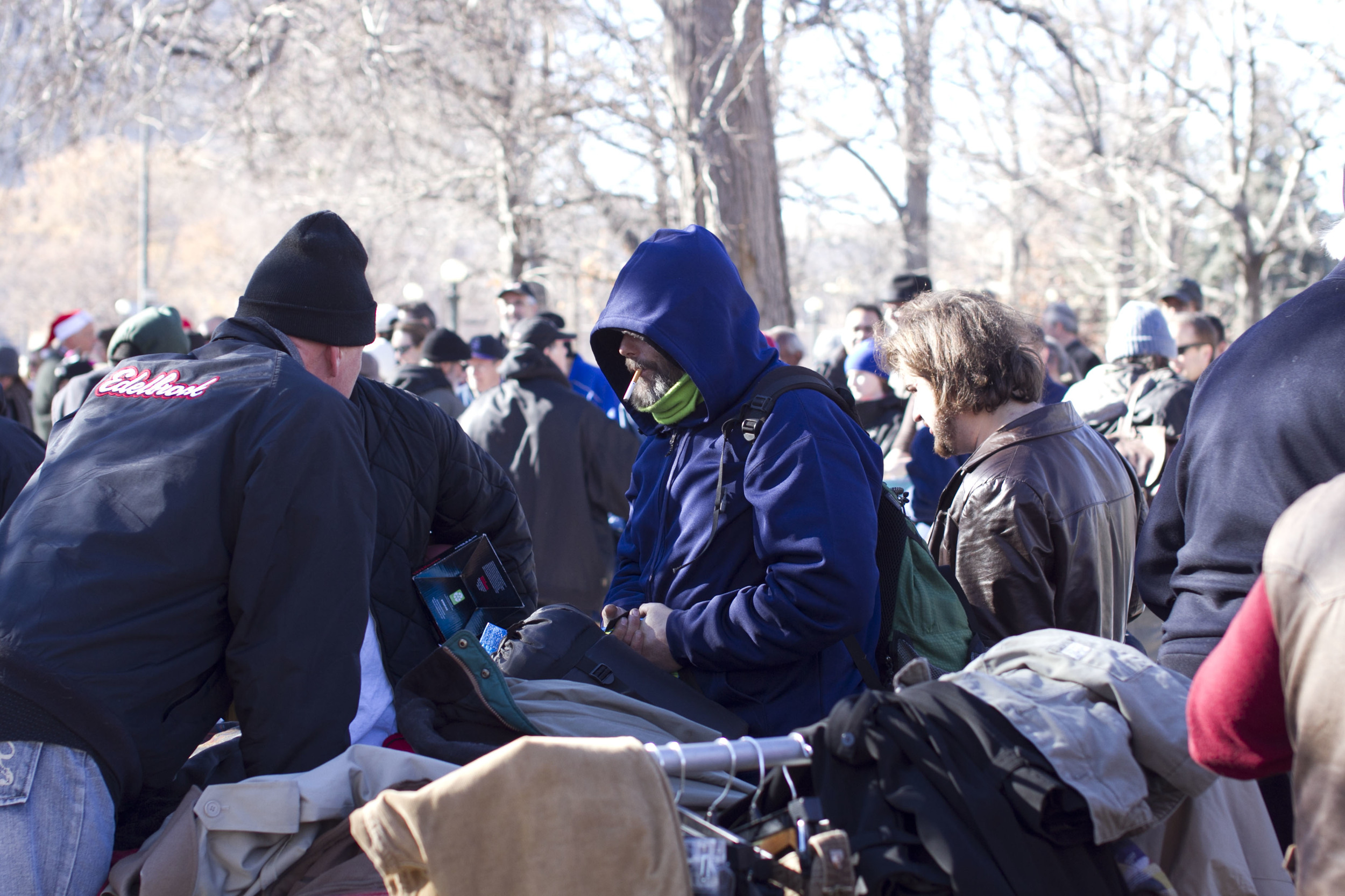 And I spent Christmas with my homeless brothers and sisters in the centre of Denver.