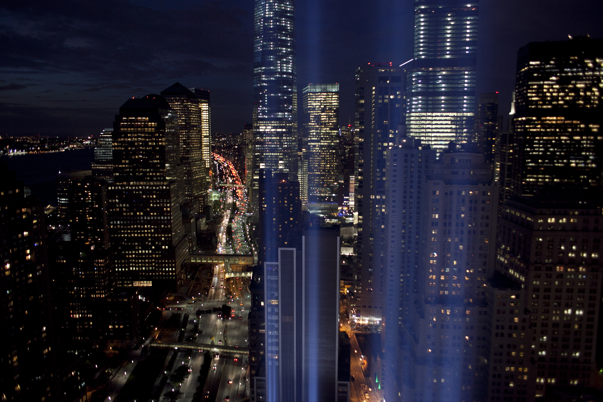 Tribute in Light test before September 11