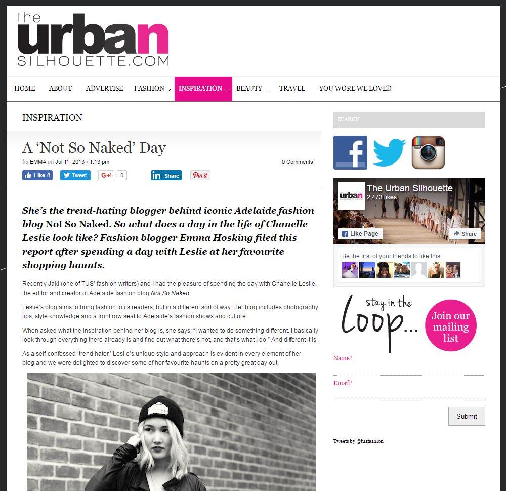 Profile in The Urban Silhouette, 2013