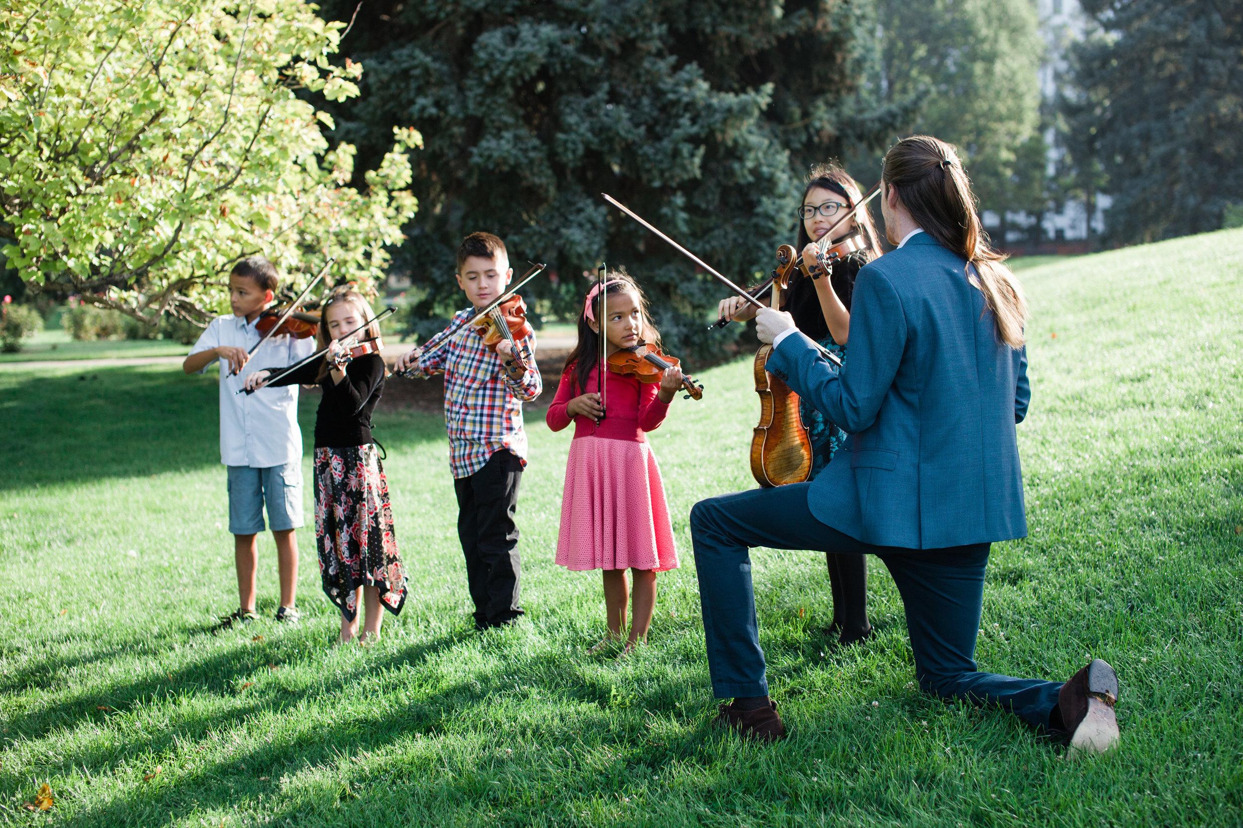 group-violin