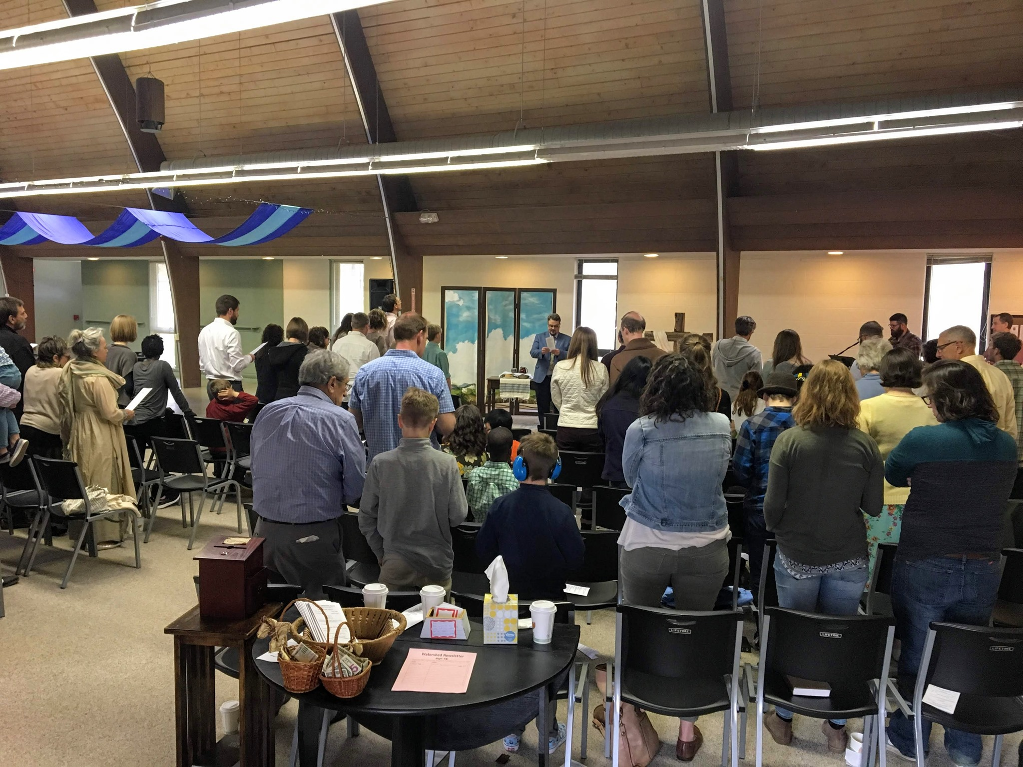 Sunday morning gathering at Watershed