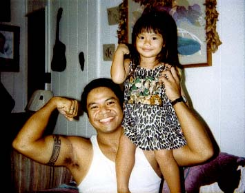 Me and my niece, Kamalei, playing around in the living room. Little did I know that she would be an amazing hula dancer- just like our ancestors before her.